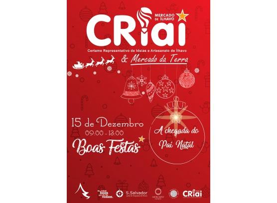 CRIAI e Mercado da Terra de Natal dia 15 de Dezembro no Mercado de Ílhavo