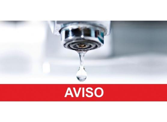 AVISO - Interrupção de Abastecimento de Água