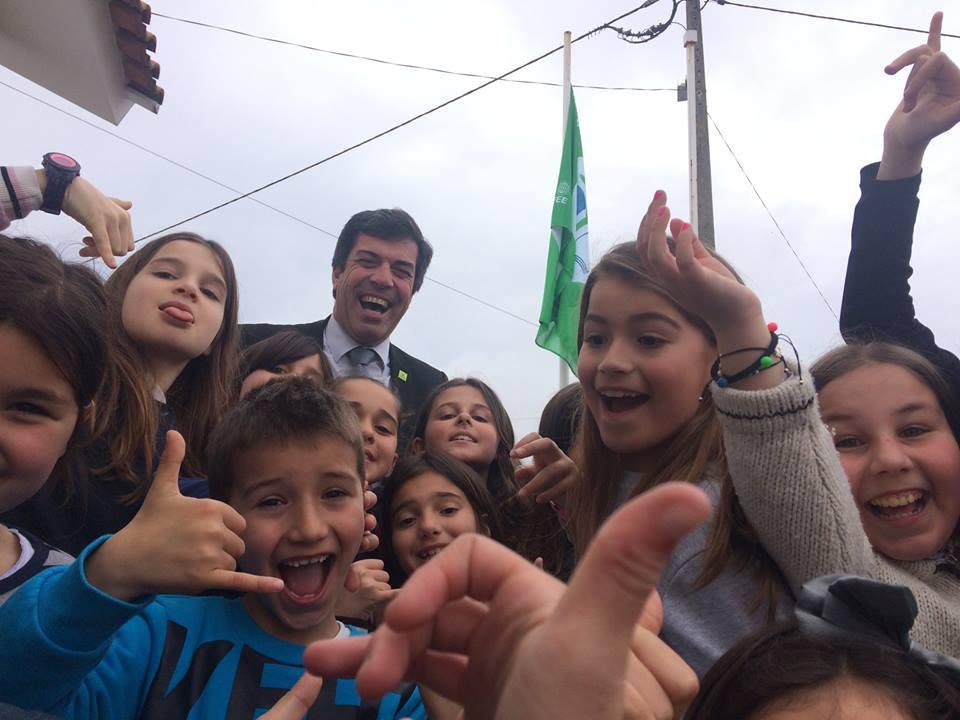 Hastear da bandeira Eco Escolas