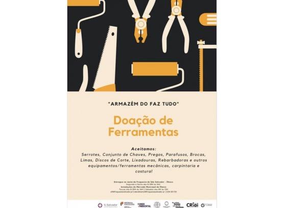 Campanha de doação de ferramentas - AFT _ Armazém do Faz Tudo