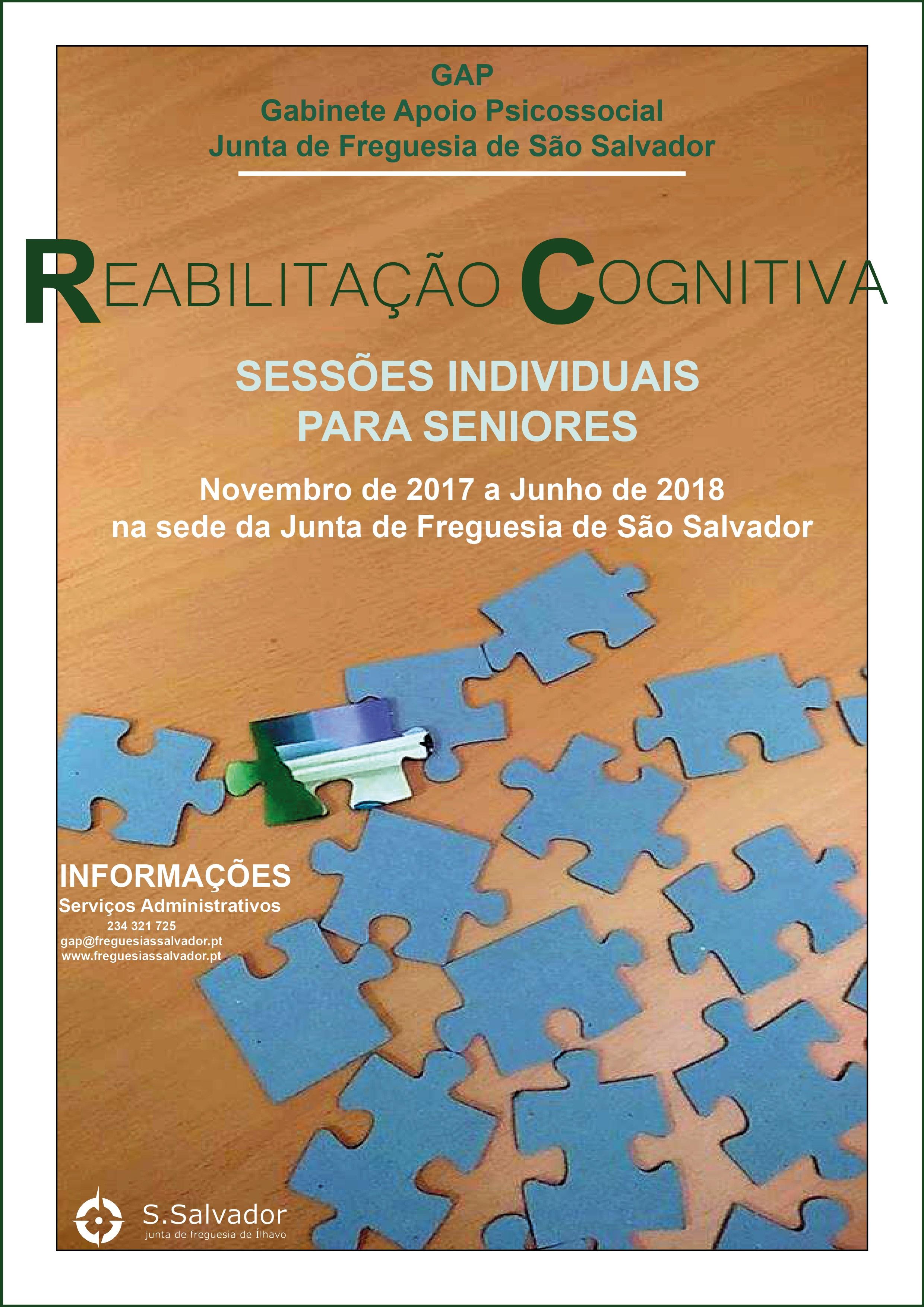 Reabilitação Cognitiva - Sessões individuais para seniores